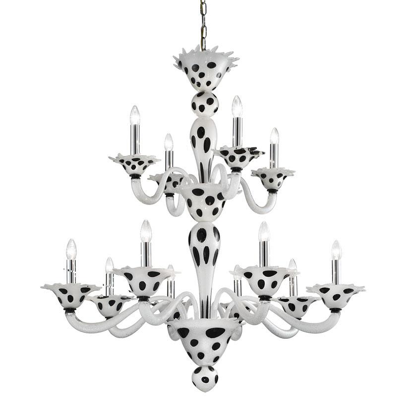 Dalmata-8+4 bianco argento e macchie nere