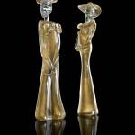 Dama e Cavaliere oro trasparente 01