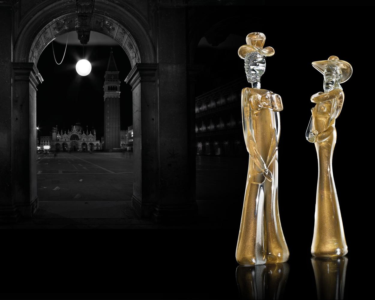 Dama e Cavaliere oro trasparente 02