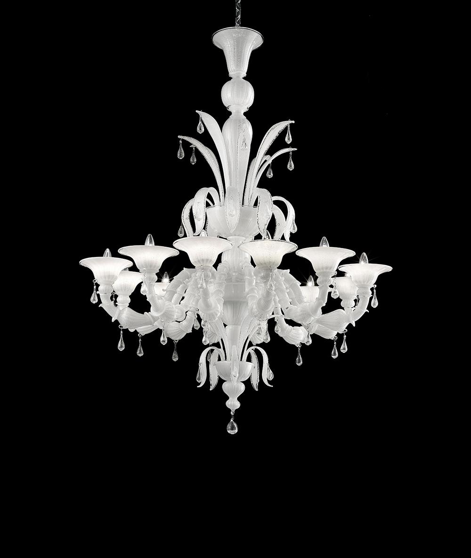 Enguetta-12C bianco argento decoro trasparente