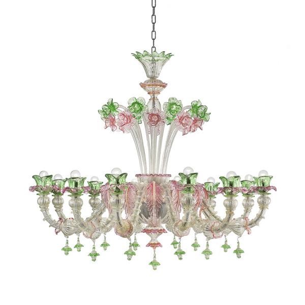 Od-12 argento decoro verde e rosa 01