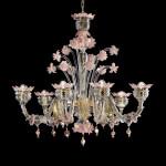 Sant'Angelo-6 trasparente decoro oro e rosa