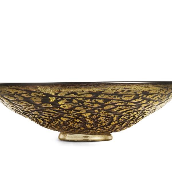 Ghiaccio-centrotavola ametista oro