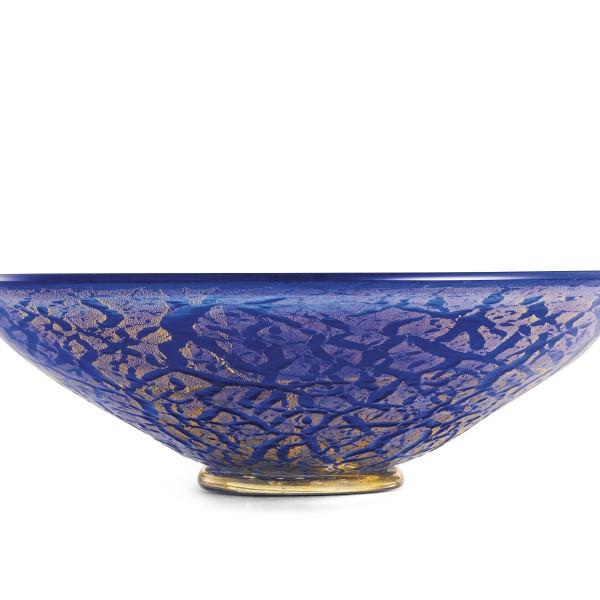 Ghiaccio-centrotavola blu oro