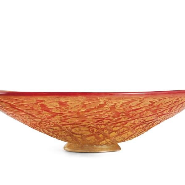 Ghiaccio-centrotavola rosso oro