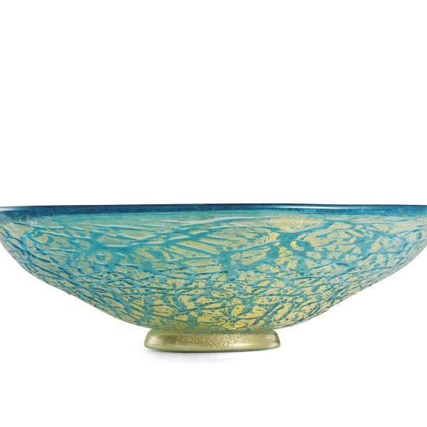 Ghiaccio-centrotavola turchese oro