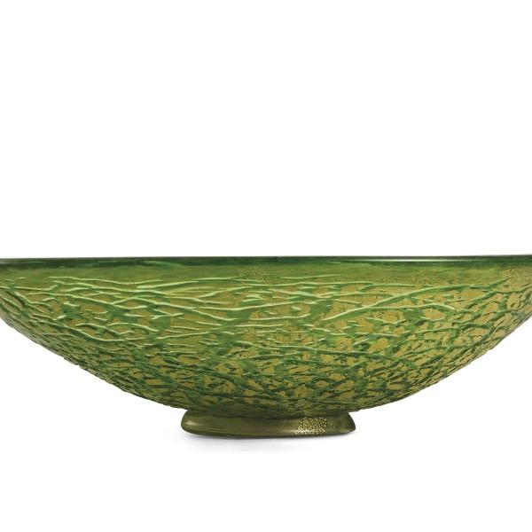 Ghiaccio-centrotavola verde oro
